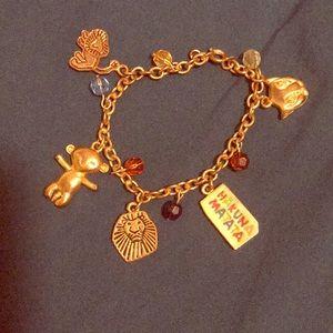 Vintage Disney kids charm bracelet